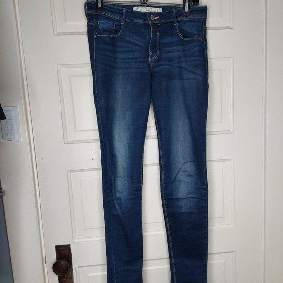 Zara Trafaluc Skinny Dark Wash Jeans Women's Size